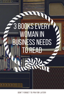 Books for Woman in Business Entrepreneurs Pinterest