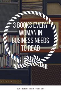 Books for Woman in Business Entrepreneurs Pinterest
